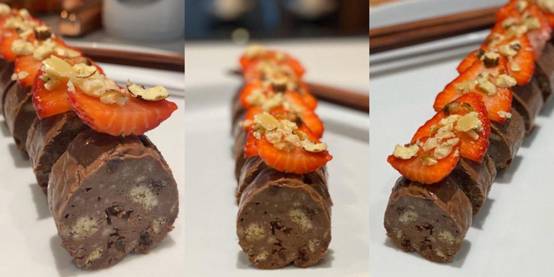 Cómo hacer la receta dulce de sushi de chocolate