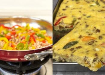 Receta de tortilla de huevo española al horno