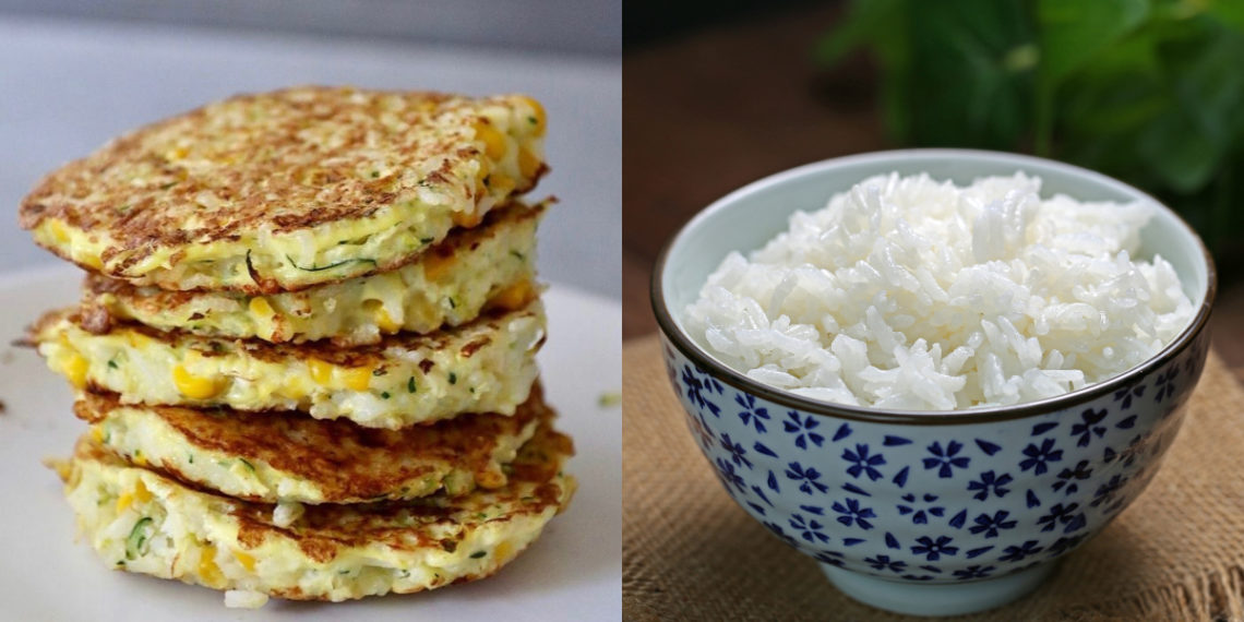 Cómo hacer la receta de tortitas de arroz con calabacín
