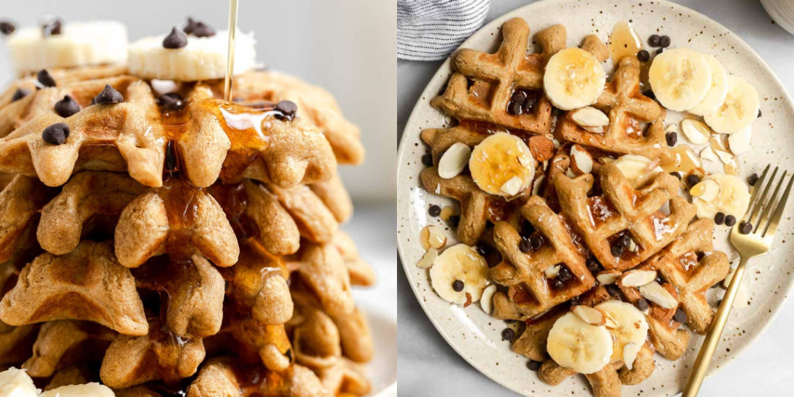 Receta de waffles de banana saludables