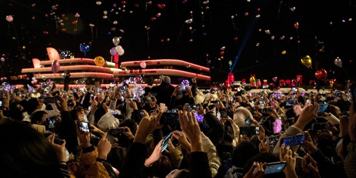 Celebración del año Nuevo en Wuhan