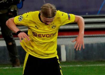 Erling Haaland con el Borussia Dortmund y siendo un niño en Noruega.