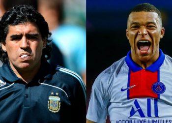 La predicción que hizo Maradona sobre Kylian Mbappé en 2017