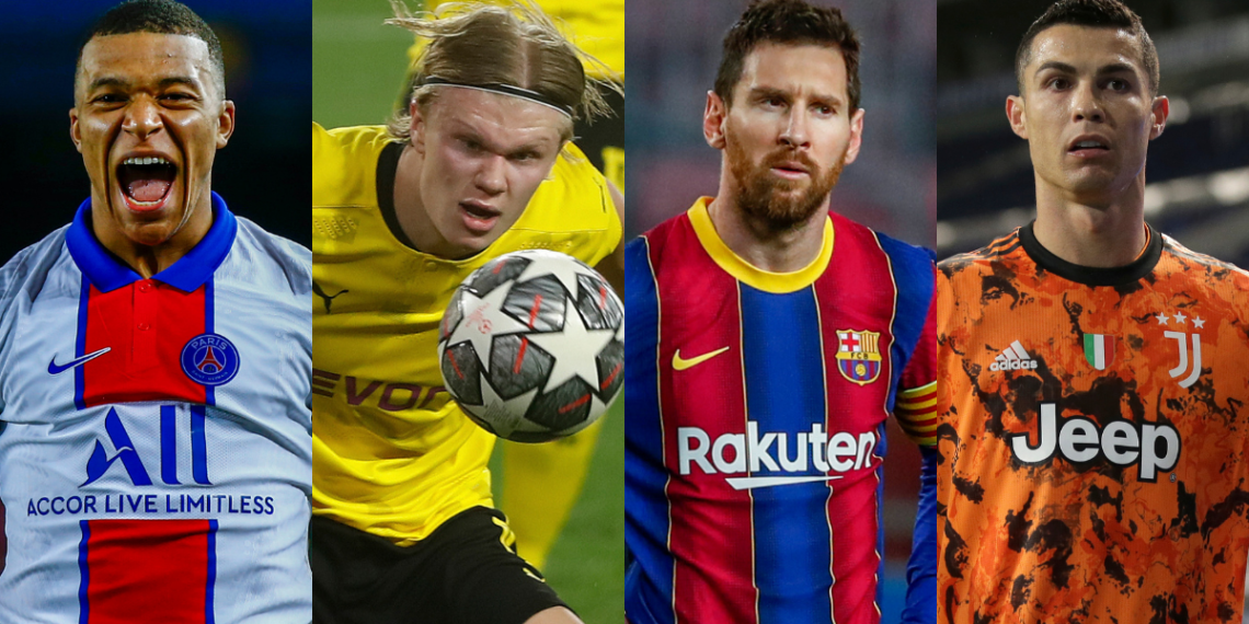 Señalan a Mbappé y Haaland como los sucesores de Messi y Ronaldo