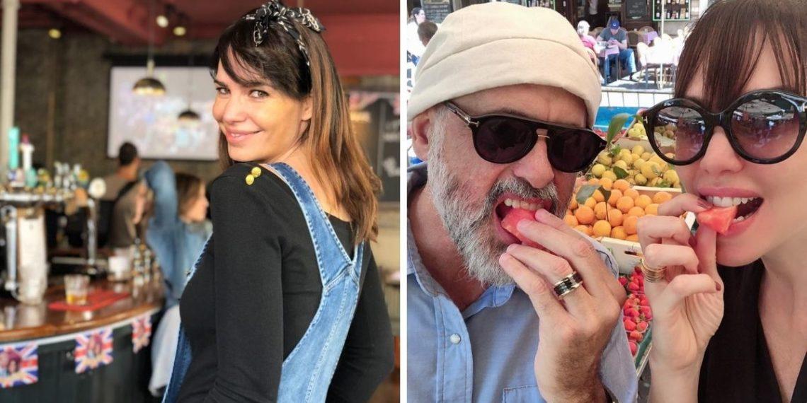 Romina Pereiro junto a Jorge Rial. Foto: Instagram/ jrial