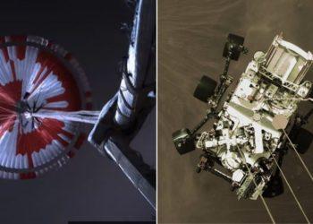 aterrizaje del rover Perseverance en Marte