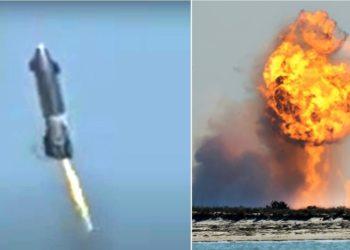 Nave espacial de SpaceX explota en prueba de aterrizaje