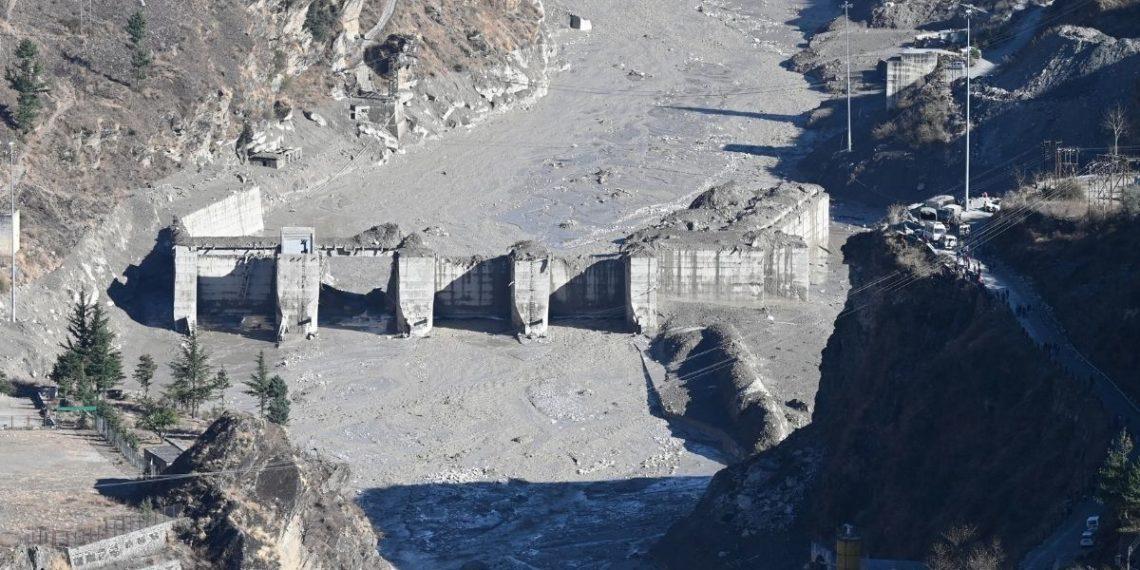 Colapso de glaciar en la India