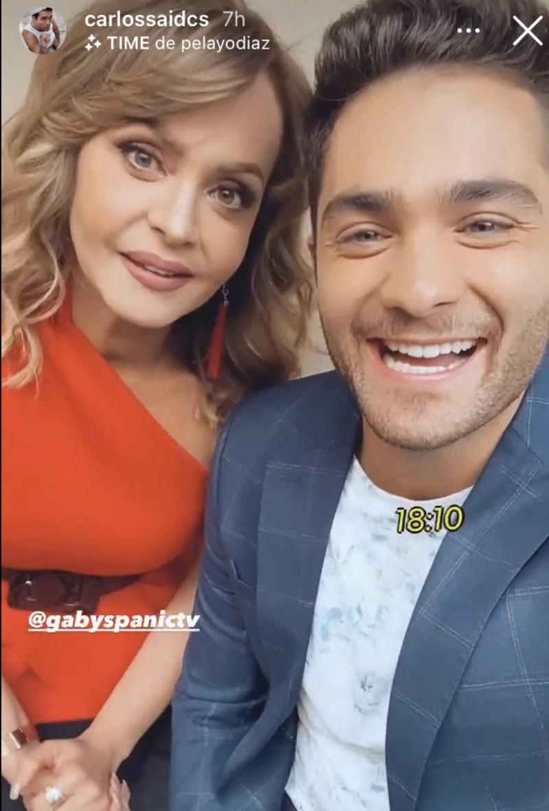 Gaby Spanic presume a Carlos Said, su nuevo y joven galán de telenovela
