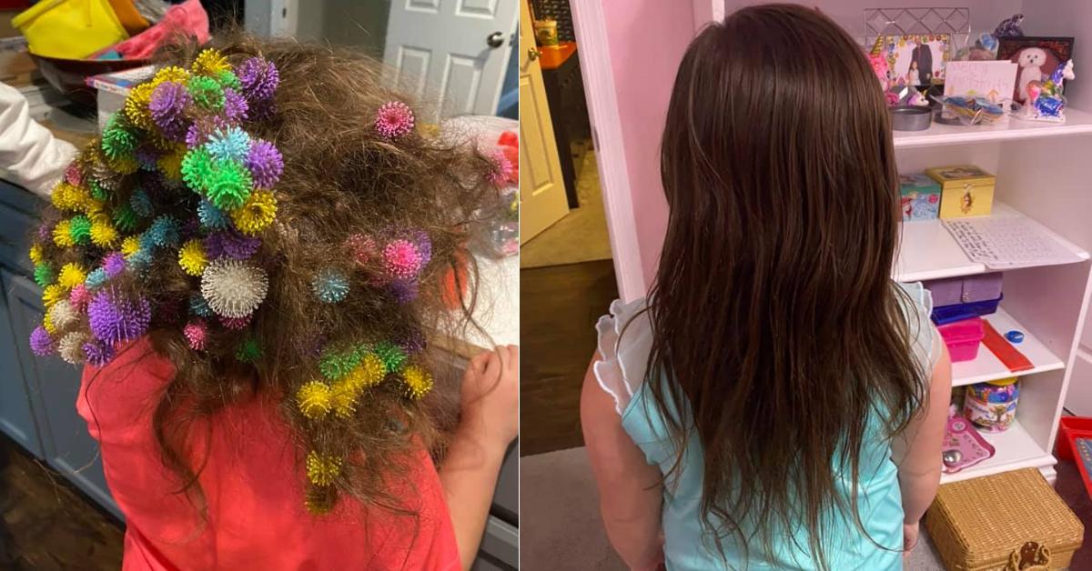 Madre tardó 20 horas en desenredar el cabello de su hija atrapado en unos juguetes