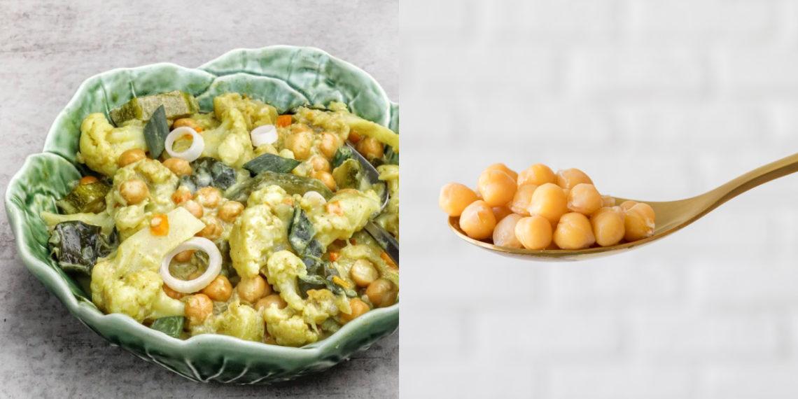 Receta de curry de garbanzos con salsa
