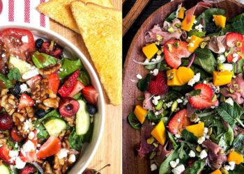 Ensaladas fáciles y nutritivas con fresas