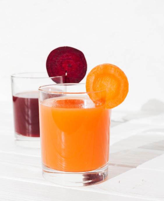 Batido con zanahoria y naranja