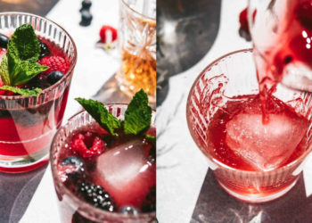 Cómo hacer limonada de frutos rojos