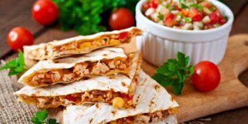 Cómo hacer quesadillas saludables y vegetarianas (tortilla wrap)