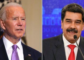 Joe Biden y Nicolás Maduro