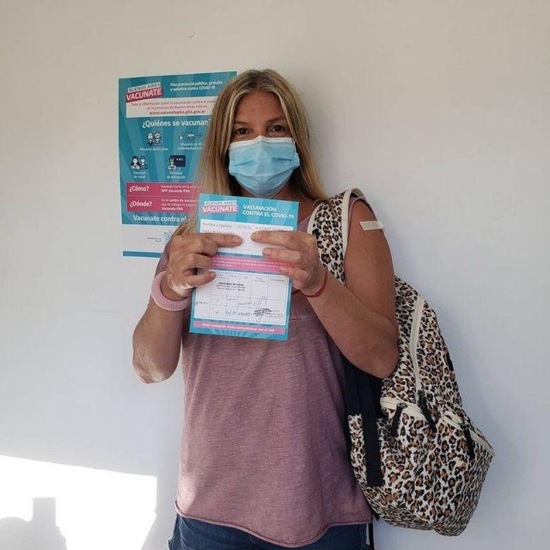 Nancy Dupláa vacuna