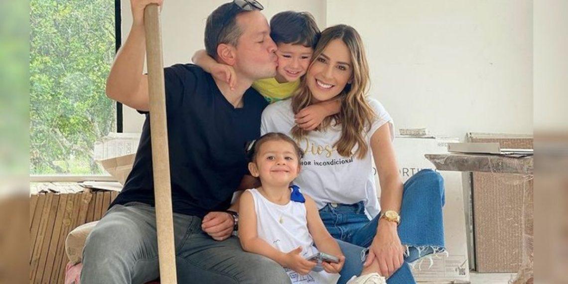 Carolina Soto y su familia