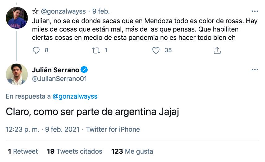 Comentario de Julián Serrano