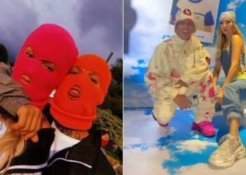 La Liendra y Dani Duke tapan su cara para evitar fans