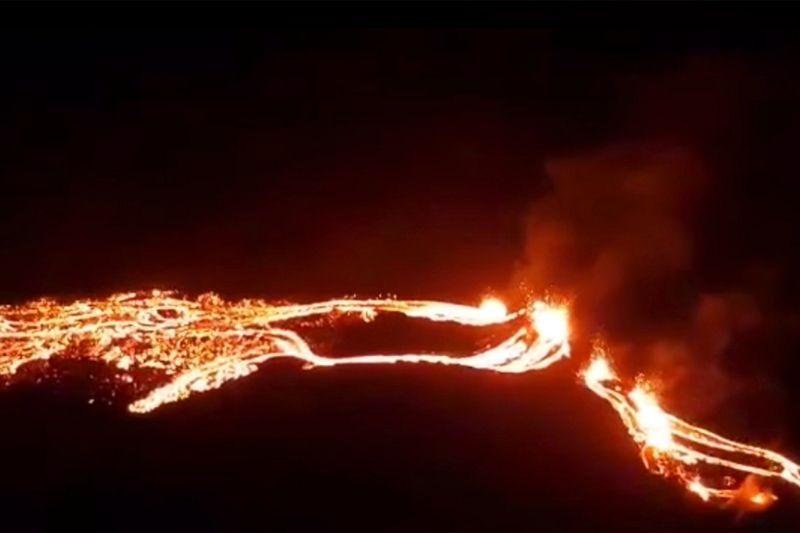 Imágenes del volcán Fagradalsfjall