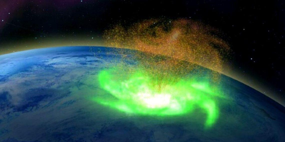 huracán espacial en la Tierra