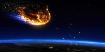 meteorito en la Tierra
