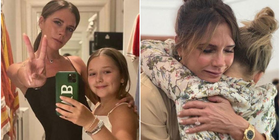 Victoria Beckham permite que su pequeña de 9 años la maquille y este es el resultado