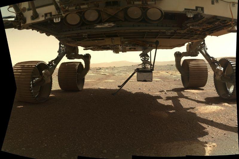 El helicóptero Ingenuity de la NASA ya está en el suelo de Marte
