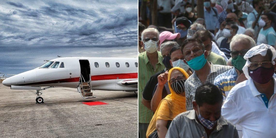Los ricos de la India se disputan los aviones privados para huir del drama del COVID-19