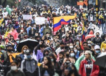 protestas del paro nacional en Colombia