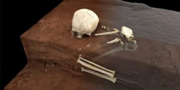 tumba de un niño en África