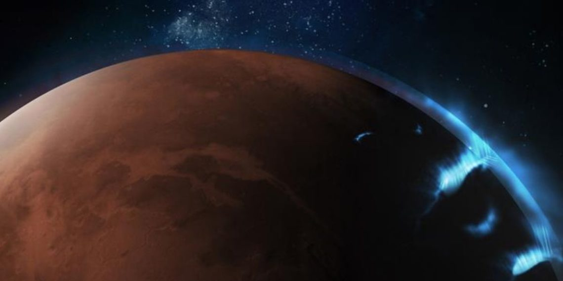 Sonda espacial captura por primera vez la imagen de una aurora en la atmósfera de Marte