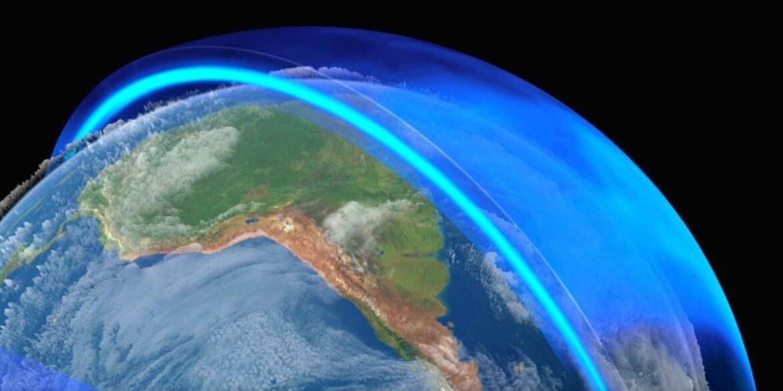 la atmósfera superior de la Tierra se está contrayendo por el cambio climático