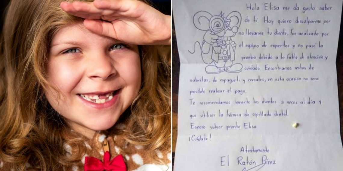 """Ratón Pérez se pone exigente y no le """"paga"""" a una niña su diente porque tenía caries"""