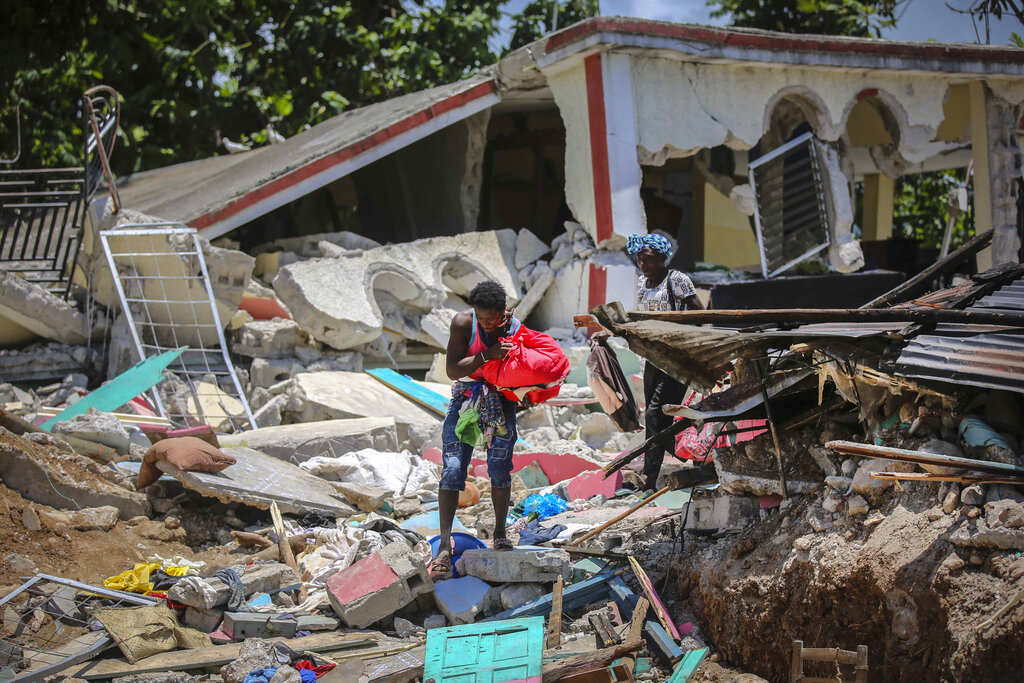 América Digital Ayudas humanitarias Haití 2021 / Foto: AP